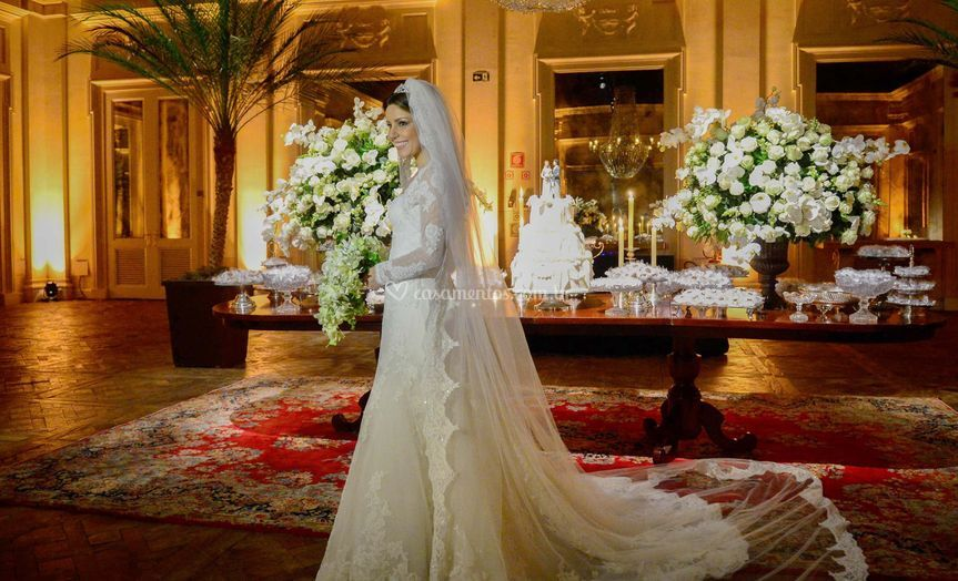 Linda noiva da scena photo