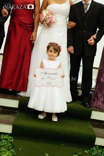 Placa entrada e saida da noiva