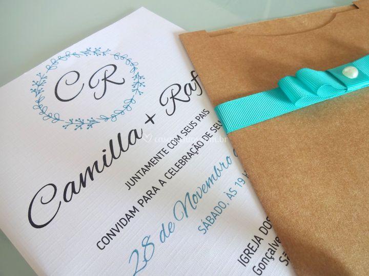 Convite Camilla e Rafael