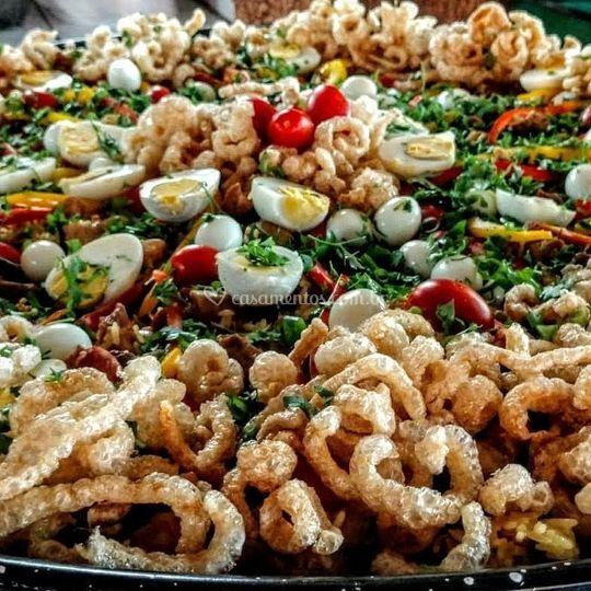 Paella caipira