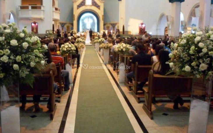 Decoração na igreja