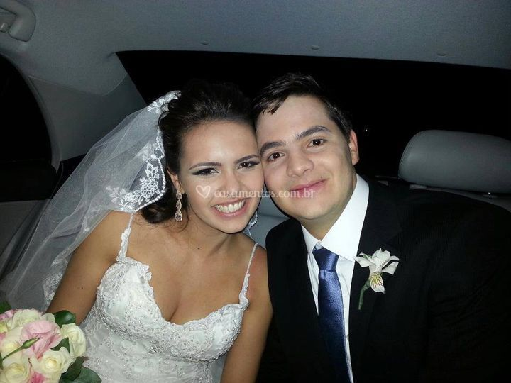 Mariana e Cesar, lindo casal