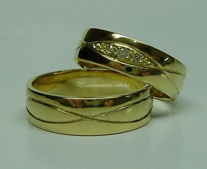 Aliança casamento modelo 329