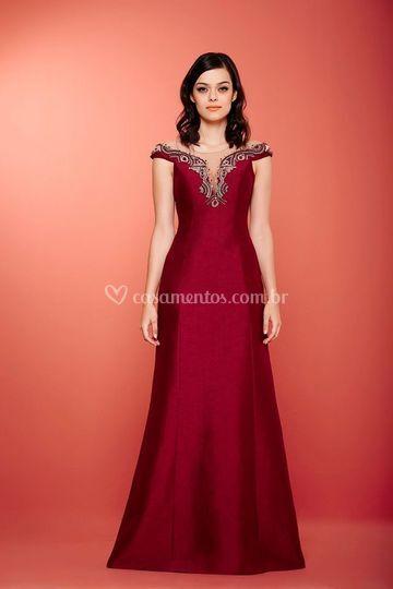 Vestido Marsala espetacular