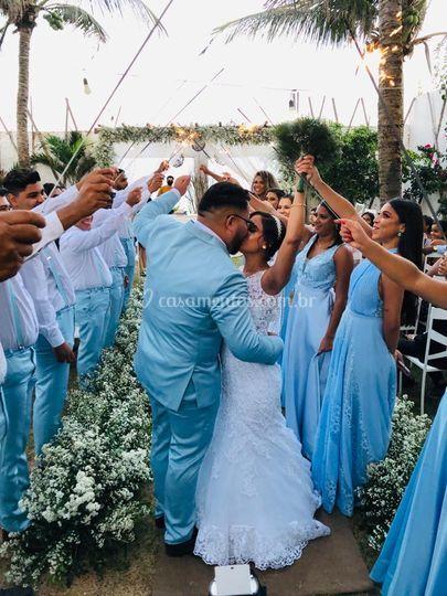 Saída dos noivos.