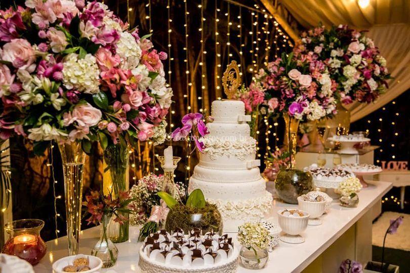 Mesa de boloe doces