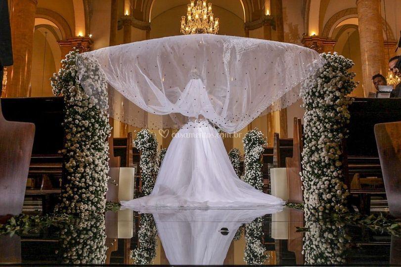Cerimônia- Cascata de flores