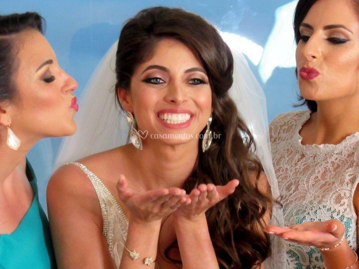 Noiva Celesta e madrinhas