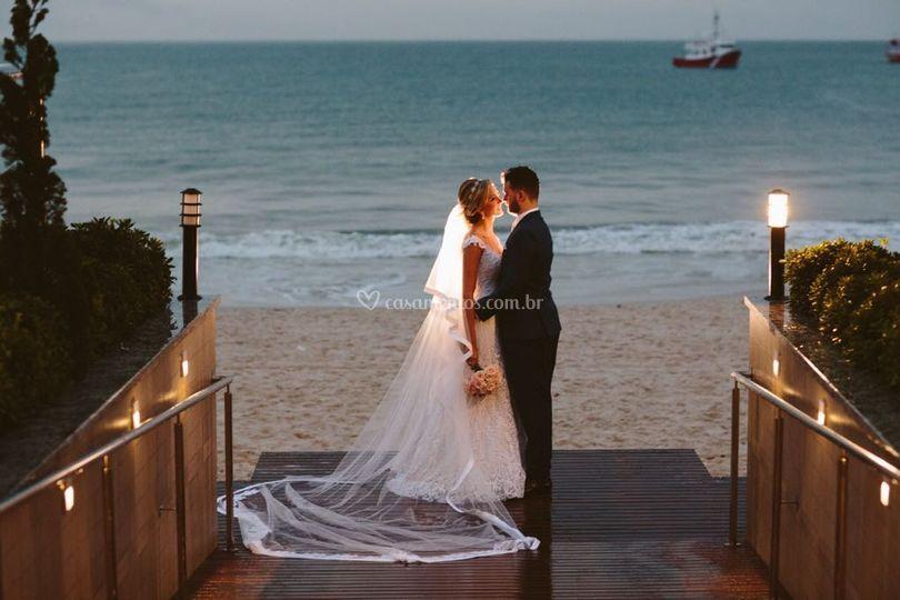 O sonho de casar na praia