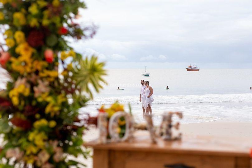 Casar na praia e assim!
