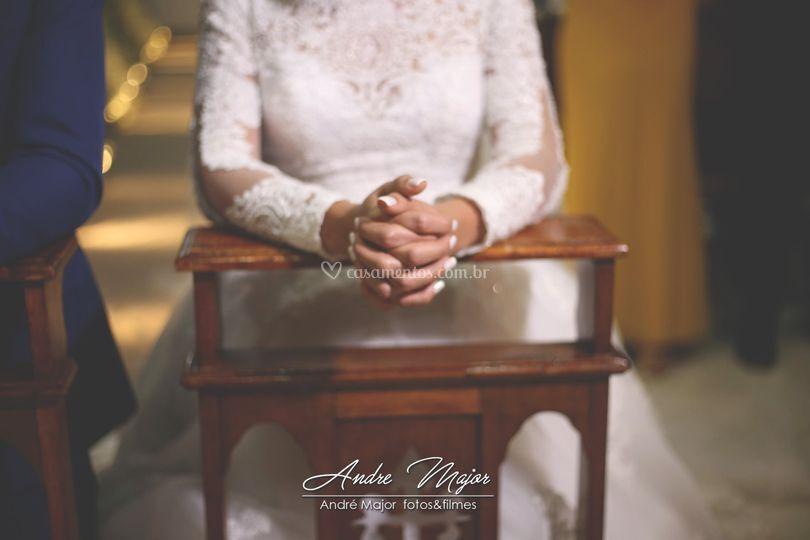 Detalhe da noiva
