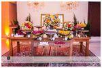 Mesa doces pe�as douradas de Fatoria di Eventos