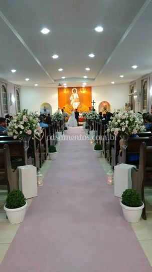 Cerimonia na igreja