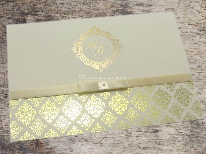 Convites Com Hot Stamp Ouro De Ritz Convites Foto 29