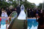 Cerimonia na ponte da piscina de Espa�o Mosaico