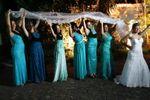 Noiva e madrinhas de Espa�o Mosaico