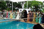 Cerim�nia na piscina de Espa�o Mosaico