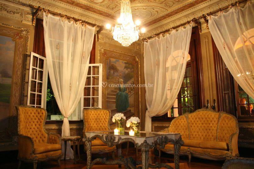 Sala recepção mansão