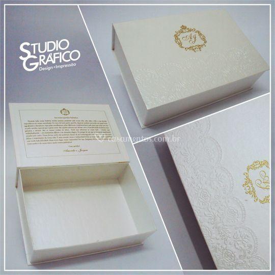 Caixa padrinhos 22 x15 cm