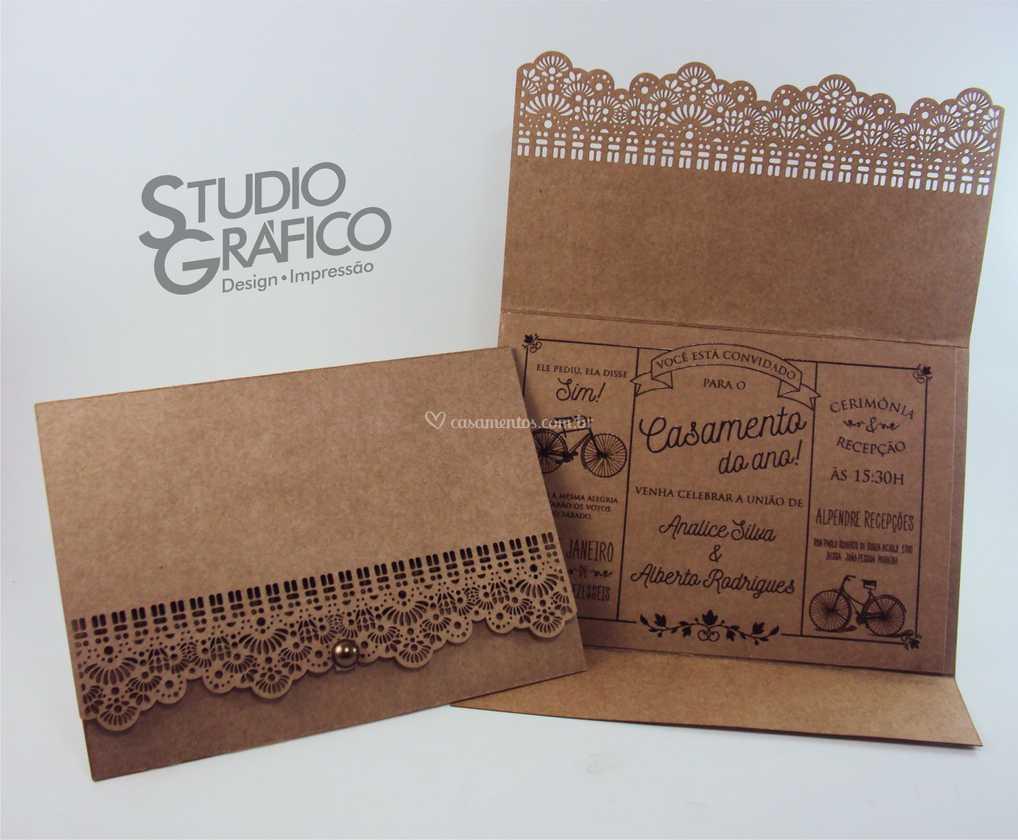 Convite Casamento Kraft De Studio Gráfico Foto 62