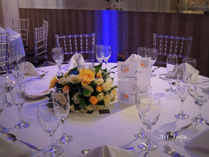 Arranjo de mesa de convidados