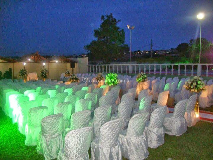 Área verde casamento