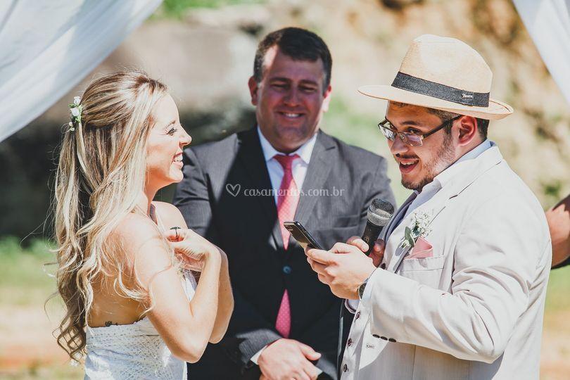 Os votos do noivo