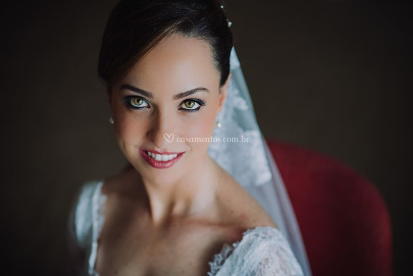 Retrato lindo da noiva