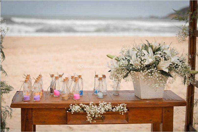 Cerimonia das areias coloridas