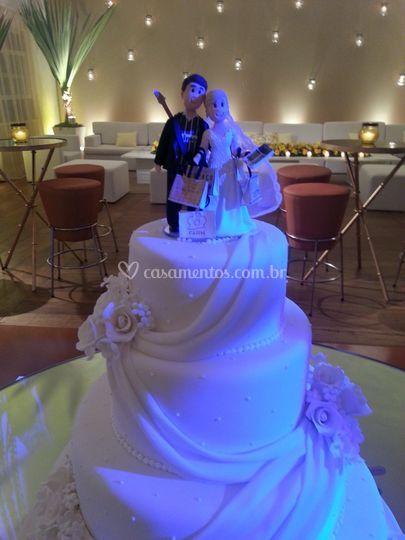 Bolo de casamento - Hípica
