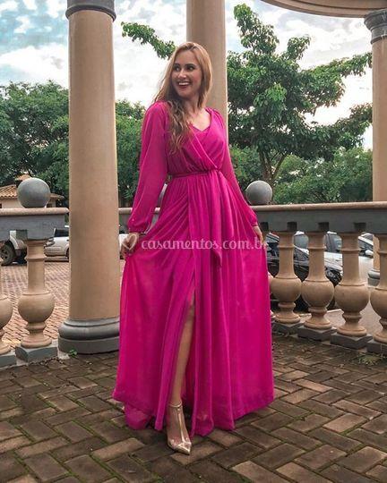 Vestido pink fluido
