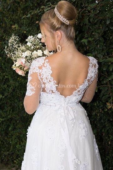 Vestido de noiva em cristais