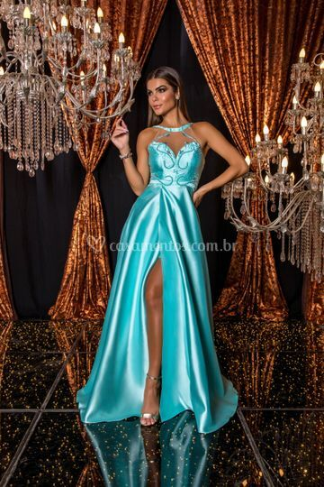 Vestido de zibeline tiffany