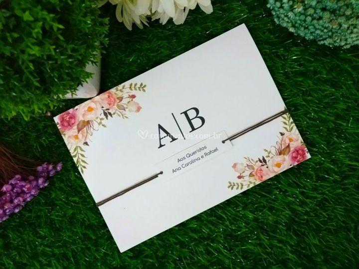 Convite floral romântico ii