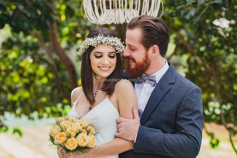 Sessão de fotos dos noivos