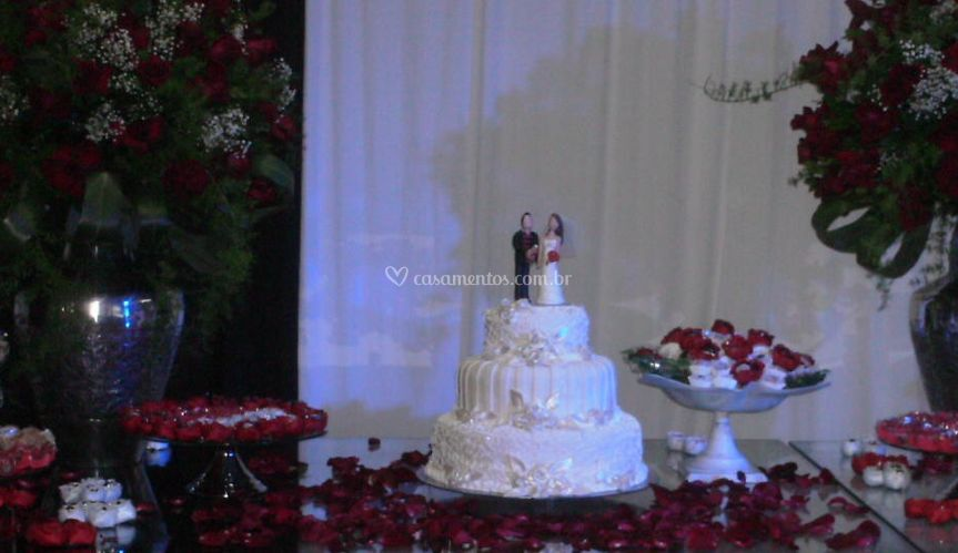 Bolo de casamento e doces