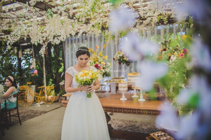 Noiva casando