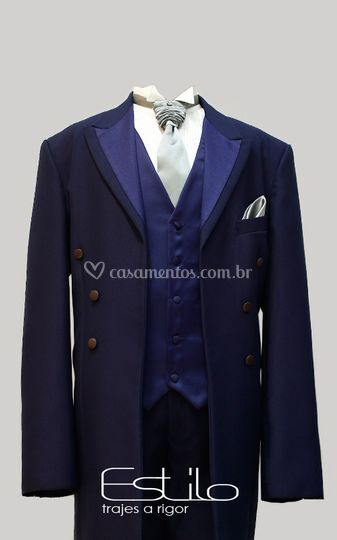 Casaco inglês azul