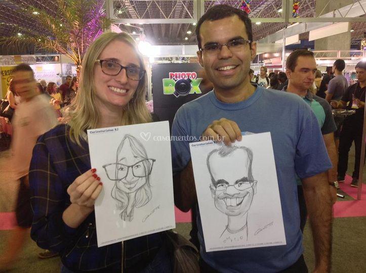 Caricatura ao vivo em festas