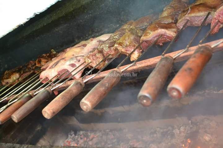 Churrasco com 4 tipos de carne
