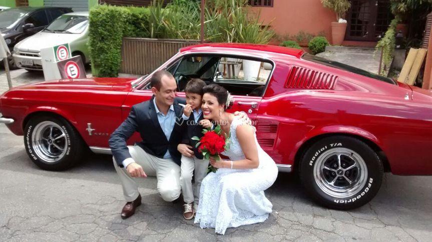 Casamento com Mustang Fastback