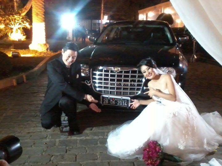 Casamento Chrysler 300C preto