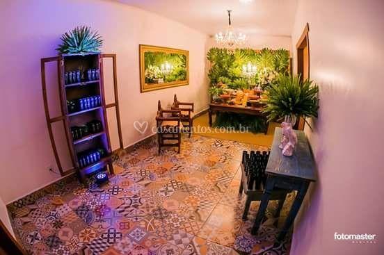 Hall com piso estilo Português