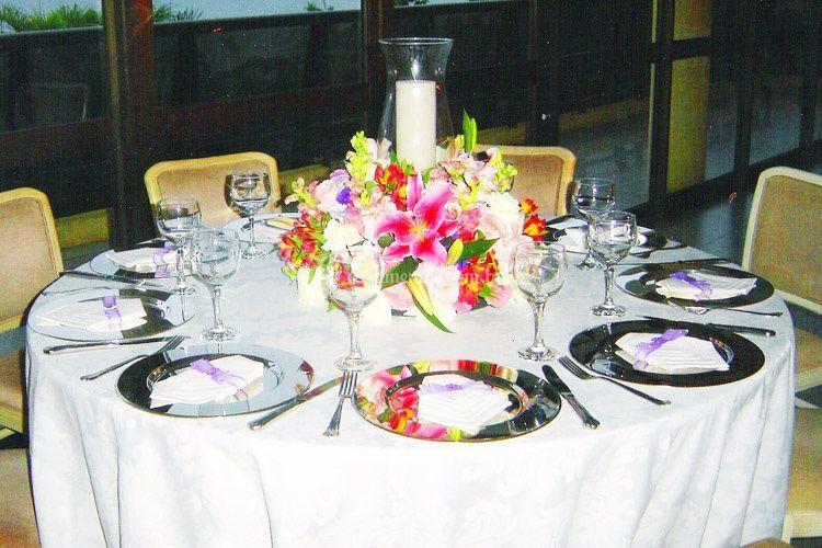 Mesa de jantar semi-posta