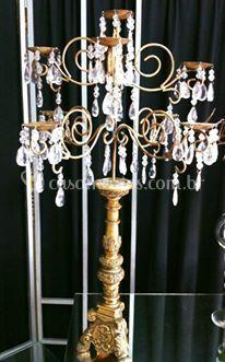 Candelabro dourado 9 velas