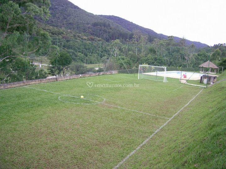 Campo vista do pomar