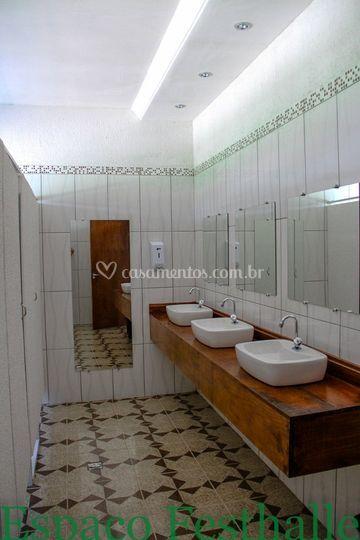 Banheiro Feminino de Espaço Festhalle  Foto  -> Foto Banheiro Feminino