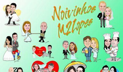 Caricatura de Noivos M2 Lopes