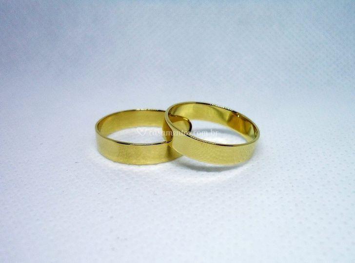 Alianças de ouro 18 k 5 mm