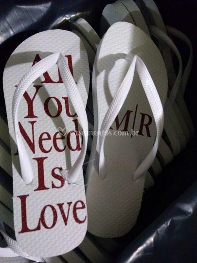 Chinelos de casamento